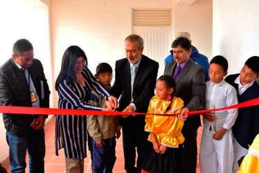 El alcalde Pedro Vicente Obando Ordóñez hizo entrega de aulas y mobiliario a la IEM del corregimiento de Gualmatán